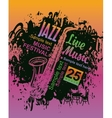 music poster with jazz festival vector image vector image