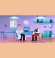 old man on consultation at doctors office room vector image vector image