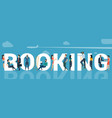 online booking template vector image vector image