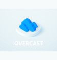 overcast isometric icon isolated on color vector image