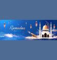 realistic ramadan horizontal composition vector image