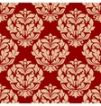 retro beige floral seamless pattern vector image vector image