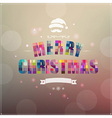 Retro Christmas Poster With Banner Ribbon vector image