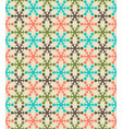 Retro color snowflake seamless pattern vector image