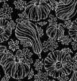 seamless chalk pumpkin pattern vector image vector image