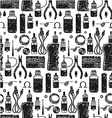 Seamless pattern of vape and accessories vector image vector image