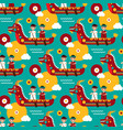 seamless pattern with chinese dragon boat chinese vector image