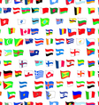 seamless pattern with country flags vector image vector image