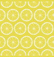 seamless pattern with lemon slices vector image vector image