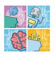 set artificial intelligence vector image