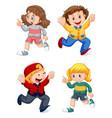 set happy kids vector image