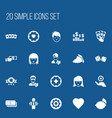 set of 20 editable gambling icons includes vector image