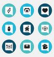 set of 9 editable love icons includes symbols vector image vector image