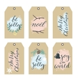 Set of Christmas Gift Tags with Hand writting vector image vector image