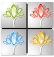 Set of four colorful trees vector image vector image