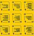Set of motivational quotes about leadership action vector image
