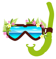 Snorkel with flowers summer concept vector image vector image