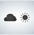 sun and cloud icon isolated on moderb background vector image vector image