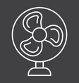 table fan line icon household and appliance vector image