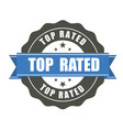 top rated badge - award sticker vector image vector image