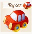 toy red car cartoon series vector image