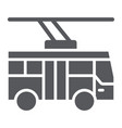 trolleybus glyph icon transportation and public vector image vector image