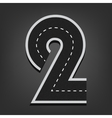 Two number Road font vector image