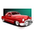 vintage red car retro car vector image vector image