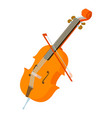 violin icon isometric style vector image