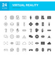 virtual reality line web glyph icons vector image vector image