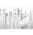 watercolor wooden fence vector image