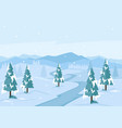 winter season landscape flat vector image