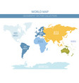 world map elements build your own geography info vector image