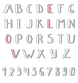 Hand drawn cute alphabet Comic Cartoon Font vector image