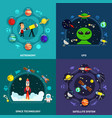 space exploration concept icons set vector image