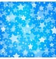 abstract blue background with glitter stars vector image