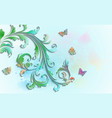 abstract floral background with paper colorful vector image vector image