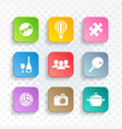 abstract leisure web and mobile icons vector image vector image