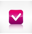 Accepr icon Yes ok symbol Application button vector image