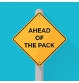 Ahead of the pack concept showed with yellow vector image vector image
