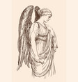 angel with a parirus vector image