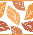 autumn colored leaves seamless repeating pattern vector image