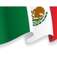 Background with waving Mexico Flag vector image vector image