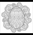 beautiful coloring book page with decorative egg vector image