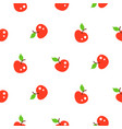 bright summer juicy apple red cartoon seamless vector image vector image