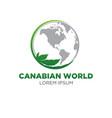 cannabis world logo designs vector image vector image