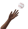 catching the baseball vector image vector image