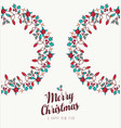 christmas and new year hand drawn wreath ornament vector image vector image