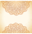 circular pattern of flowers background vector image vector image