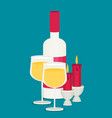 colored flat design wine vector image vector image